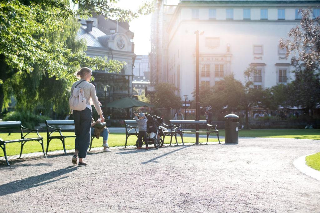 Berzeliin pieni puistikko sijaitsee aivan Tukholman keskustassa